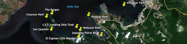 subic-bay-Dive-site-map