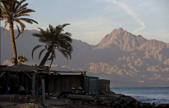 View of dahab mountains