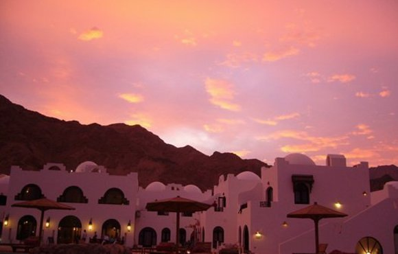 sunset in Dahab
