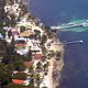 aerial view of black bird cay resort belize
