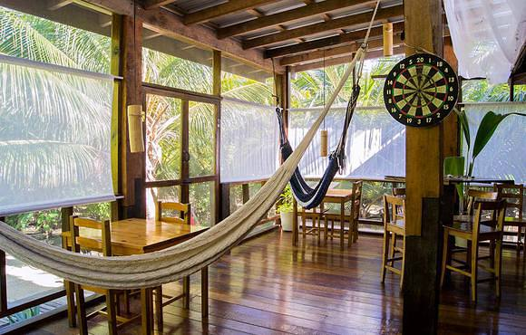 hammocks at huracan dive resort