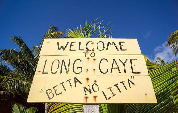 Welcome to Long Caye belize