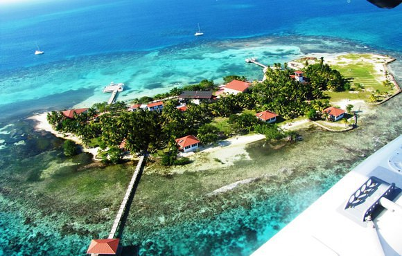 aerial dive resort hatchet caye
