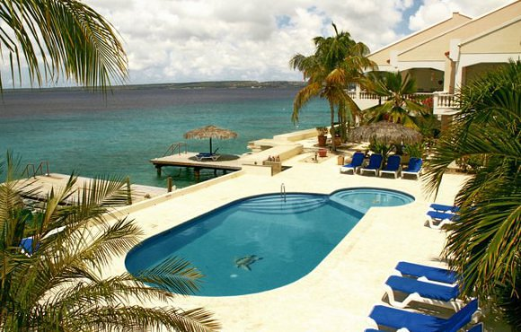 pool at belmar oceanfront apartments bonaire