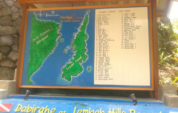 map of dive sites lembeh
