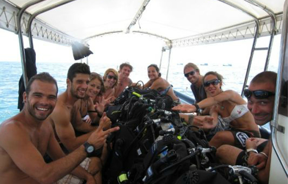 Divers in Koh Tao