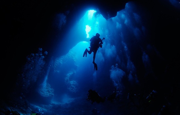 Cavern diving Palau