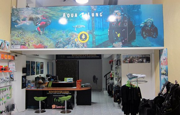dive shop inside