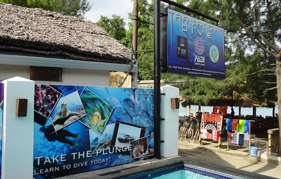 Training pool, dive trawangan
