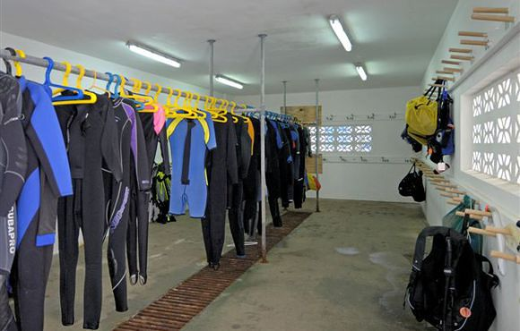 Dive Gear room bonaire