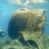 Wreck diving Navarino