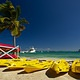 Kayak rental at Black Bird Caye resort