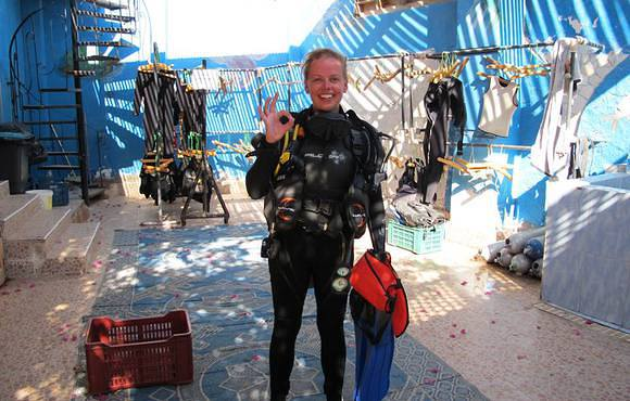 scuba diver dahab, red sea