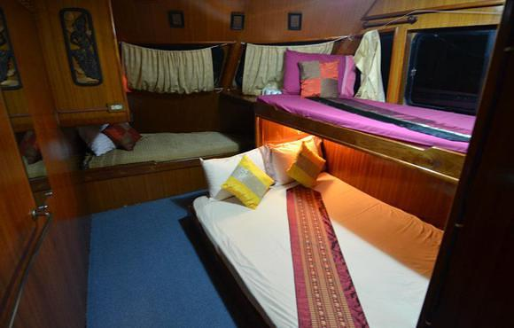 cabin on board of DiveRace